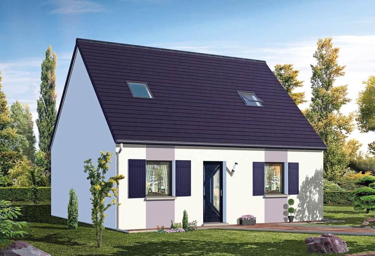 La maquette d'une maison individuelle