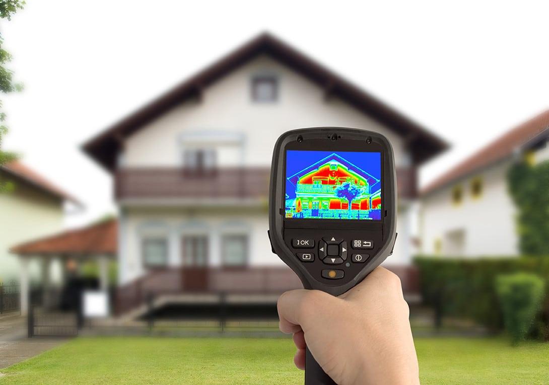 Une caméra thermique pour apprécier l'isolation thermique